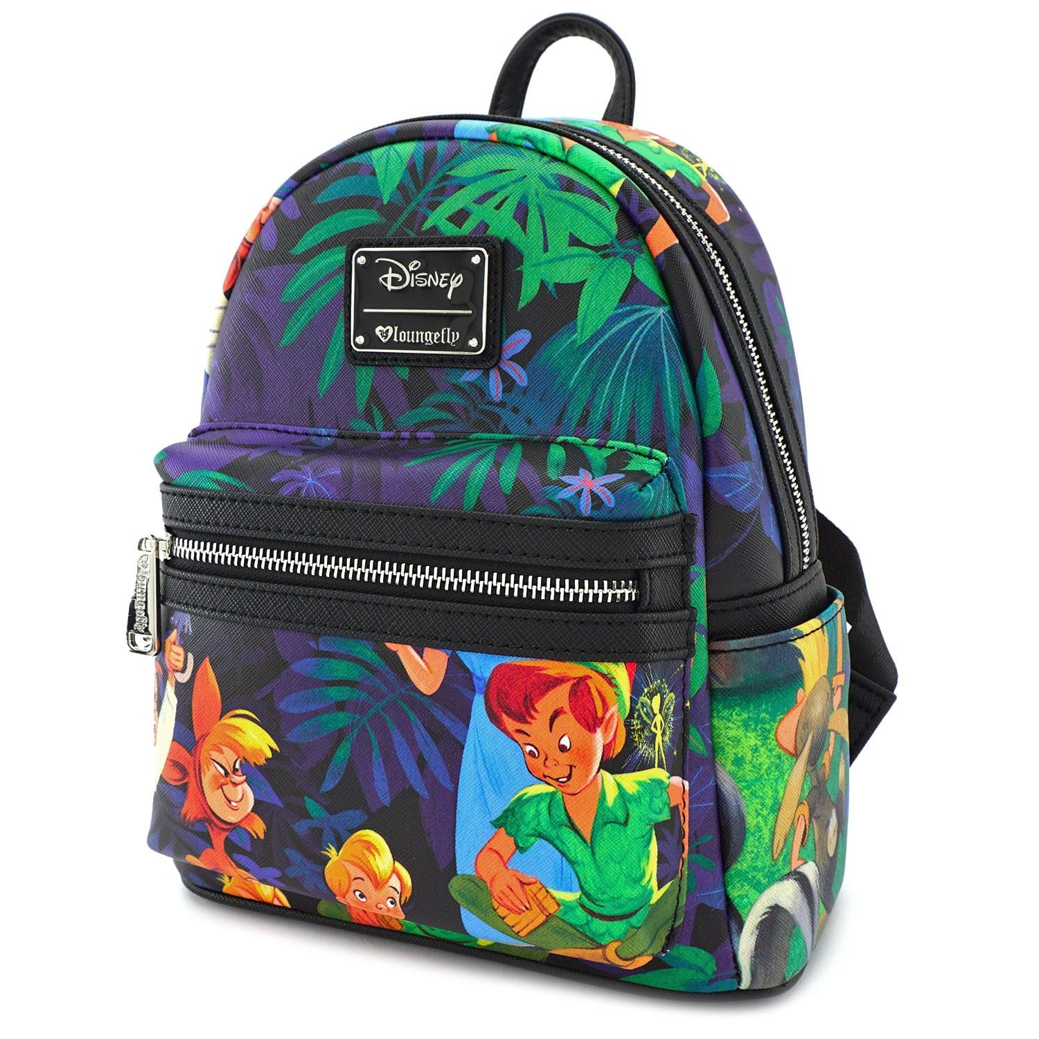 2390e409ab5 Loungefly x Peter Pan Scenes Print Faux Leather Mini Backpack - Disney -  Brands