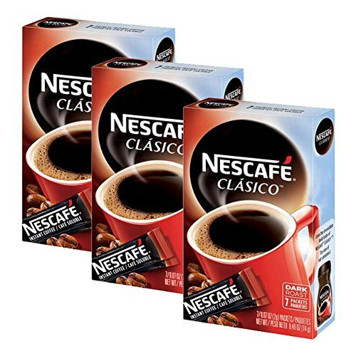 Nescafe Clasico Dark Roast 3 Boxes Of 7 Packets Each 21
