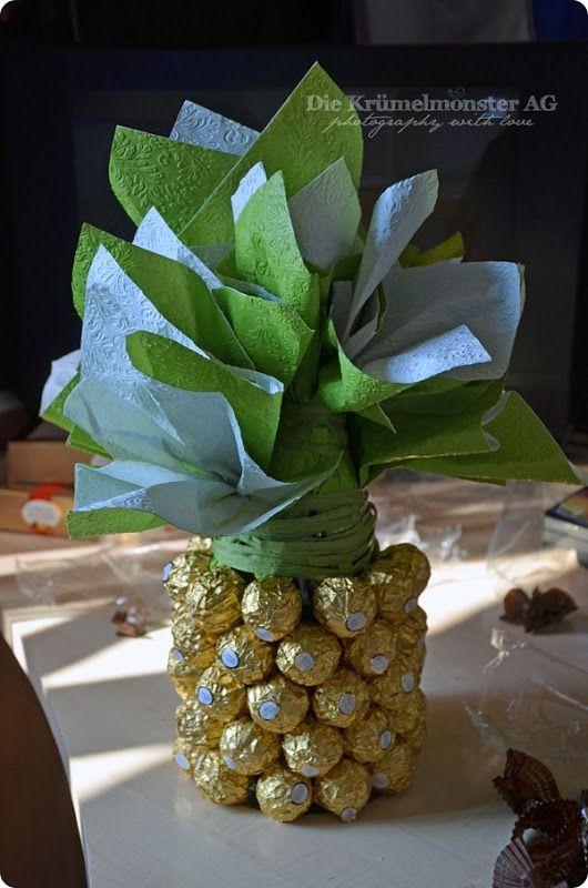 rocher ananas sektflasche geschenke pinterest rocher ananas geschenk und geschenkideen. Black Bedroom Furniture Sets. Home Design Ideas