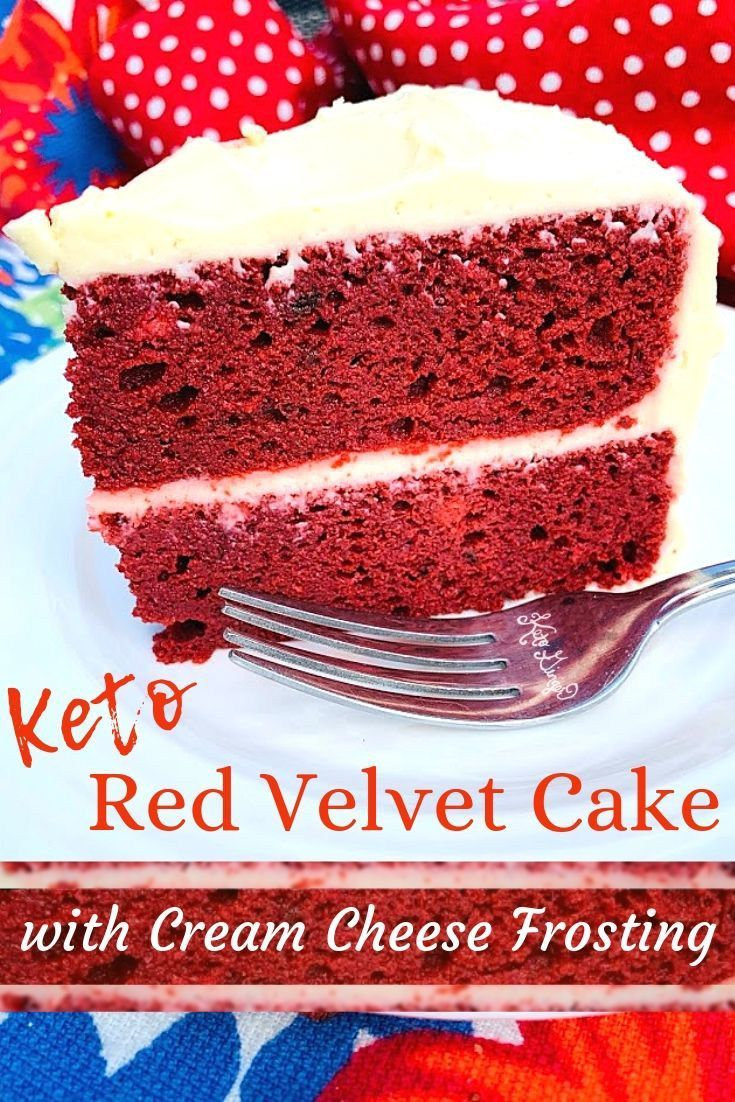 Keto Red Velvet Cake with Cream Cheese Frosting Recipe