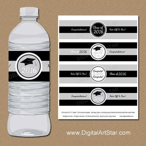 Graduation Party Decorations 2019 Water Bottle Label Printable