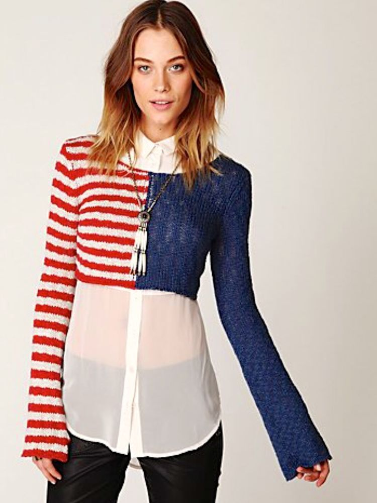 Free People Striped Regular Size XS Sweaters for Women