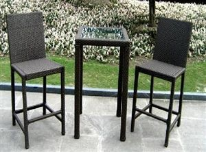 Would Like To Find A Tall Bistro Table To Buy Without The Chairs To Stand Around Outdoor Patio Furniture Sets Patio Furniture Sets Outdoor Dining Furniture