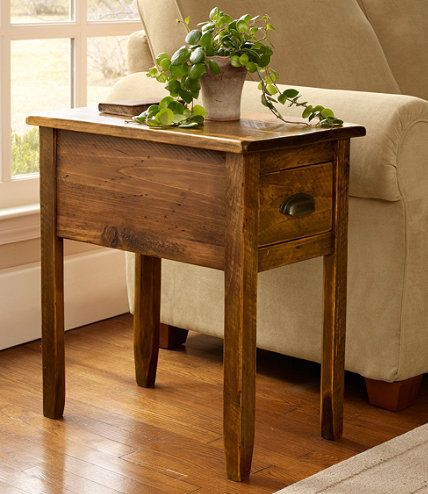 Rustic wooden side table furniture wooden side table - Narrow side tables for living room ...