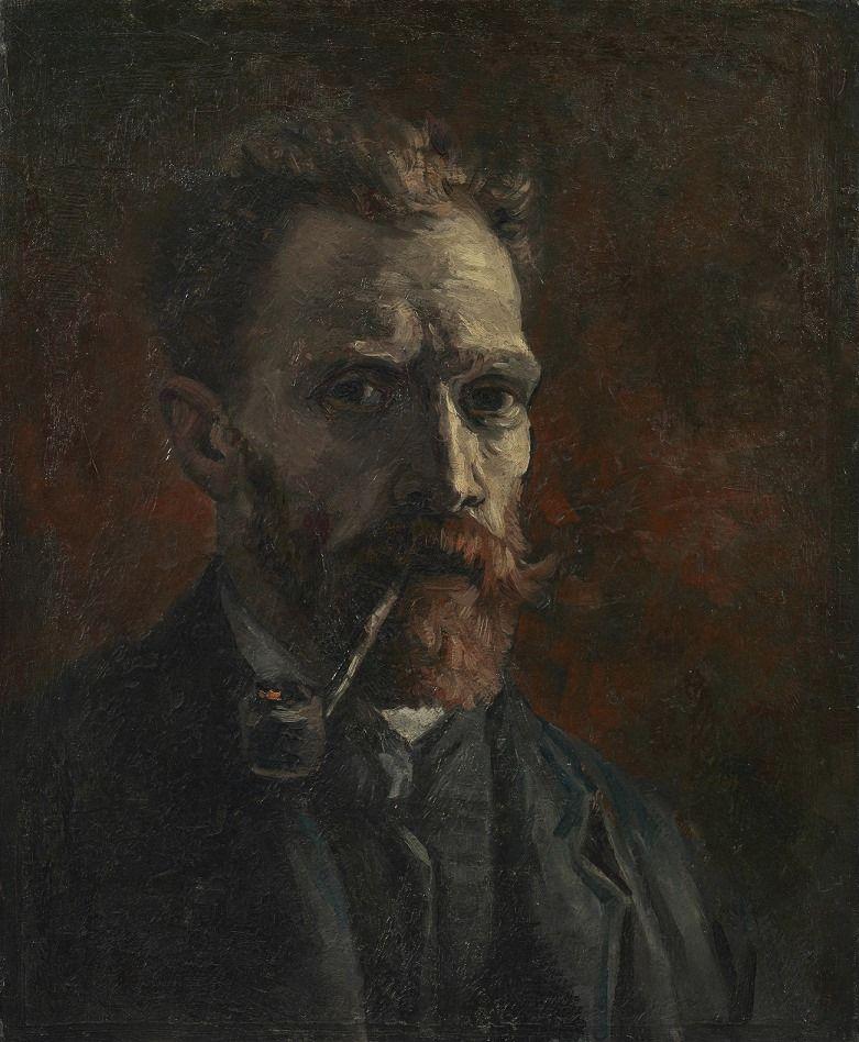 Van Gogh, Self-Portrait with Pipe, September-November 1886. Oil on canvas, 46 x 38 cm