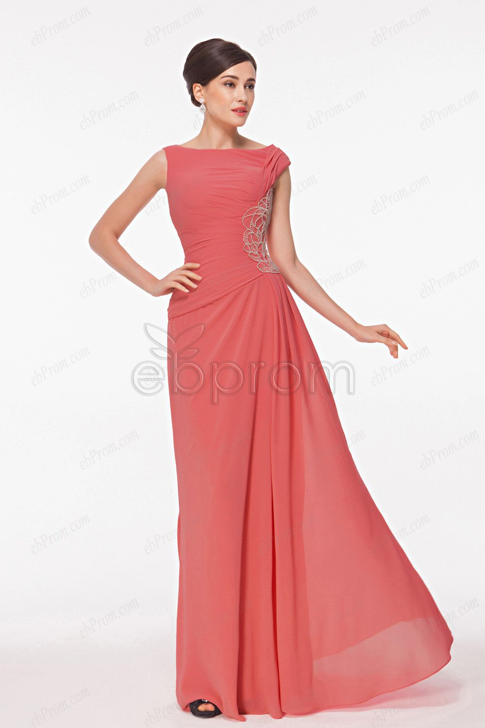 Modest Coral Mother Of The Bride Dresses Coral Bridesmaid Dresses Long Coral Bridesmaid Dresses Dresses