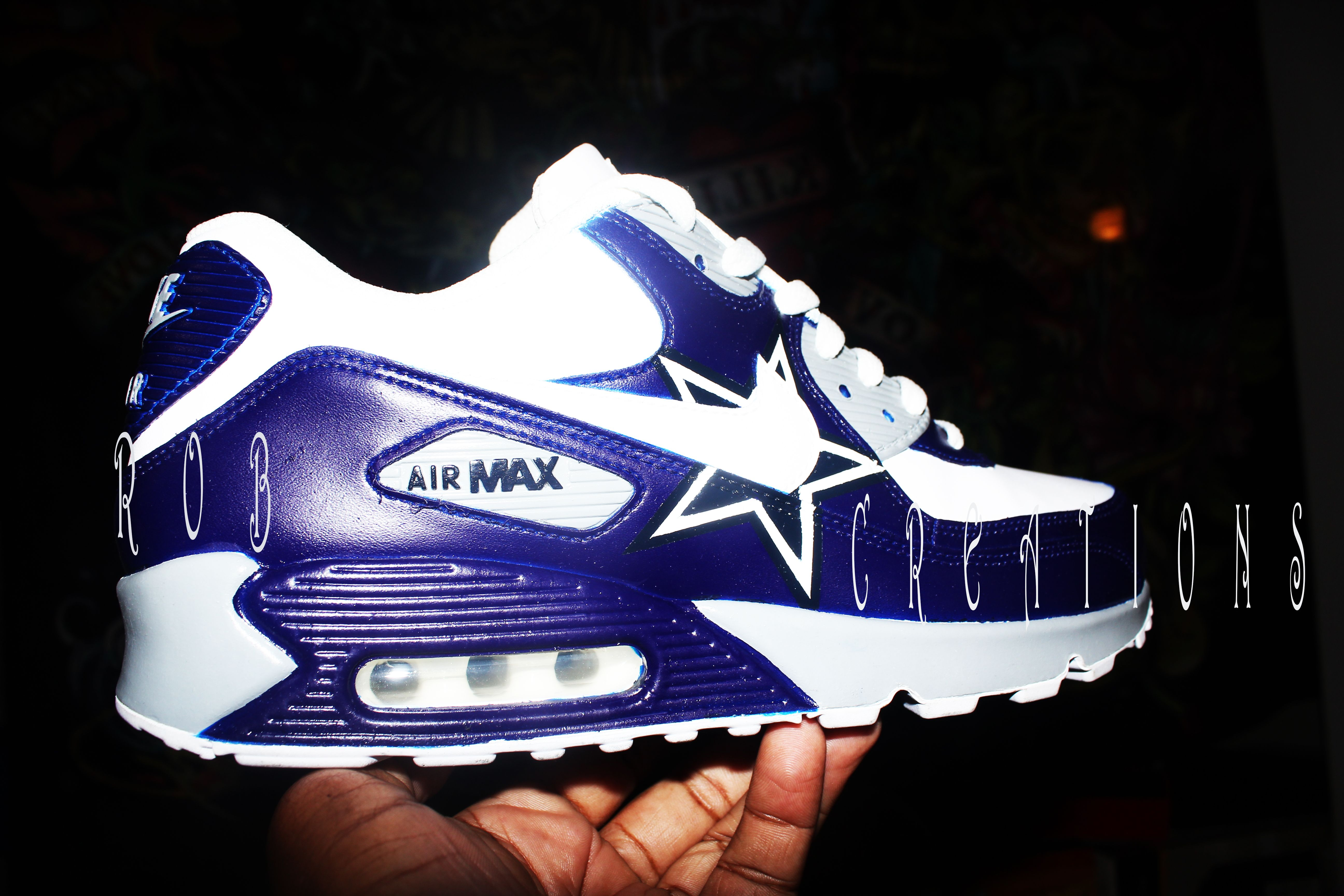 dallas cowboys nike air max shoes