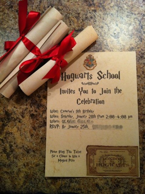 Harry Potter Birthday Party This I Want