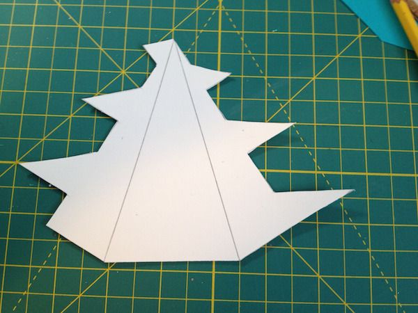 How To Make Standing, Folded Paper Christmas Trees Cards