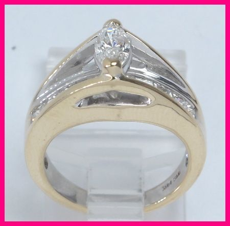 14kyg Floating Marquise Princess Diamond Ring 1 55ct Princess Diamond Ring Diamond Ring Diamond