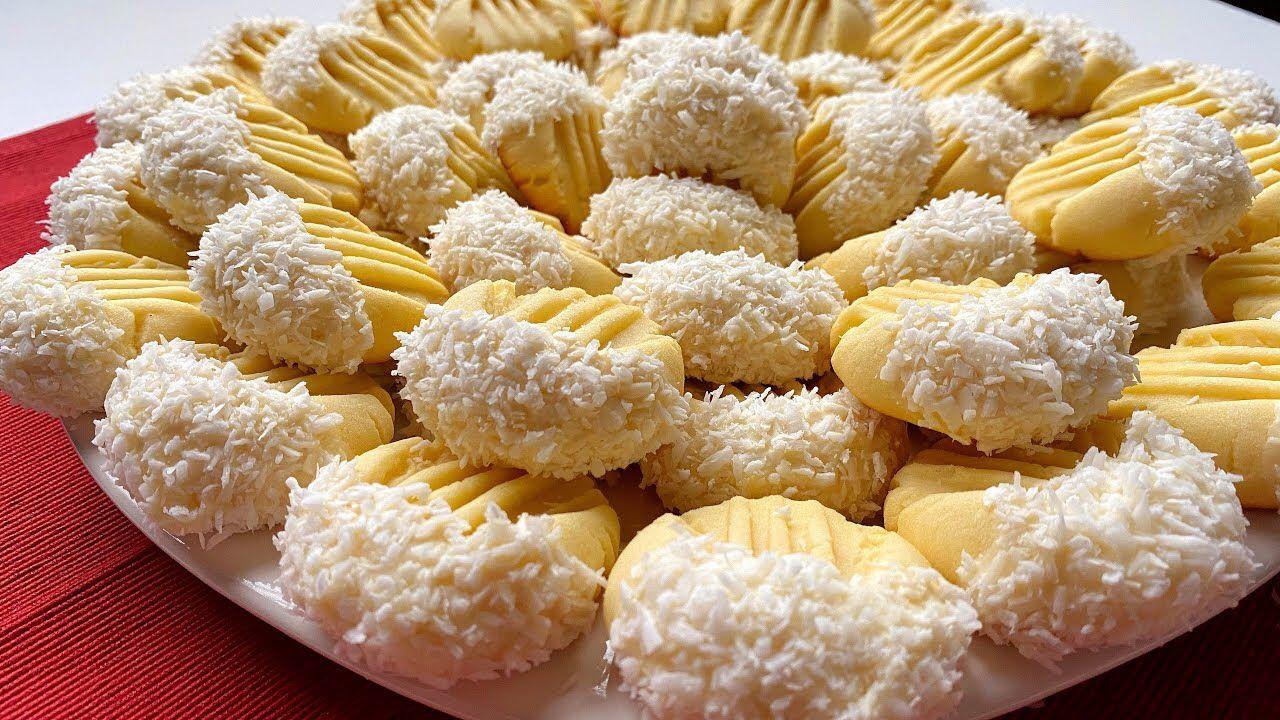 Raffaello Biscuits بنصف كيلو دقيق وكوب زبدة عملت 61 قطعة بسكويت رفايللو الرهيب Youtube Food Cooking Breakfast