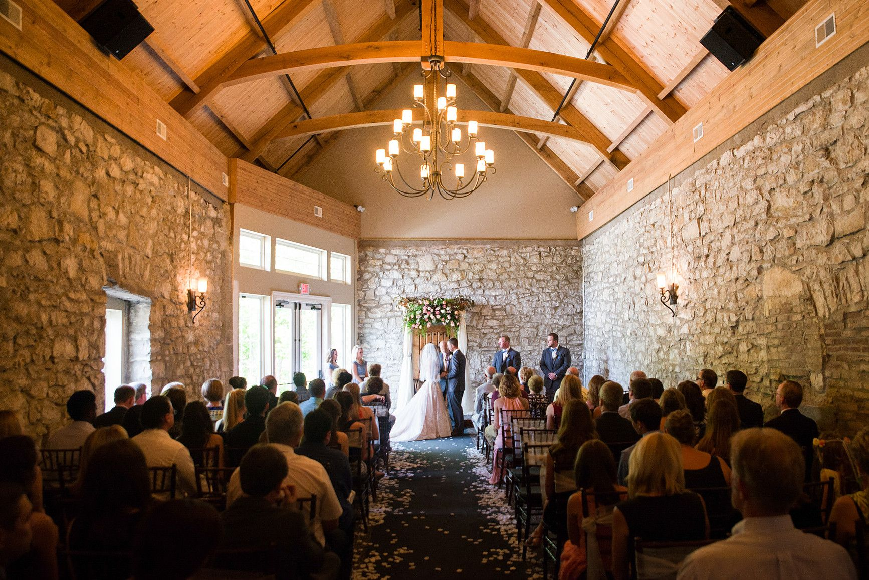 Old Stone Chapel Wedding In St Charles Missouri Photo By