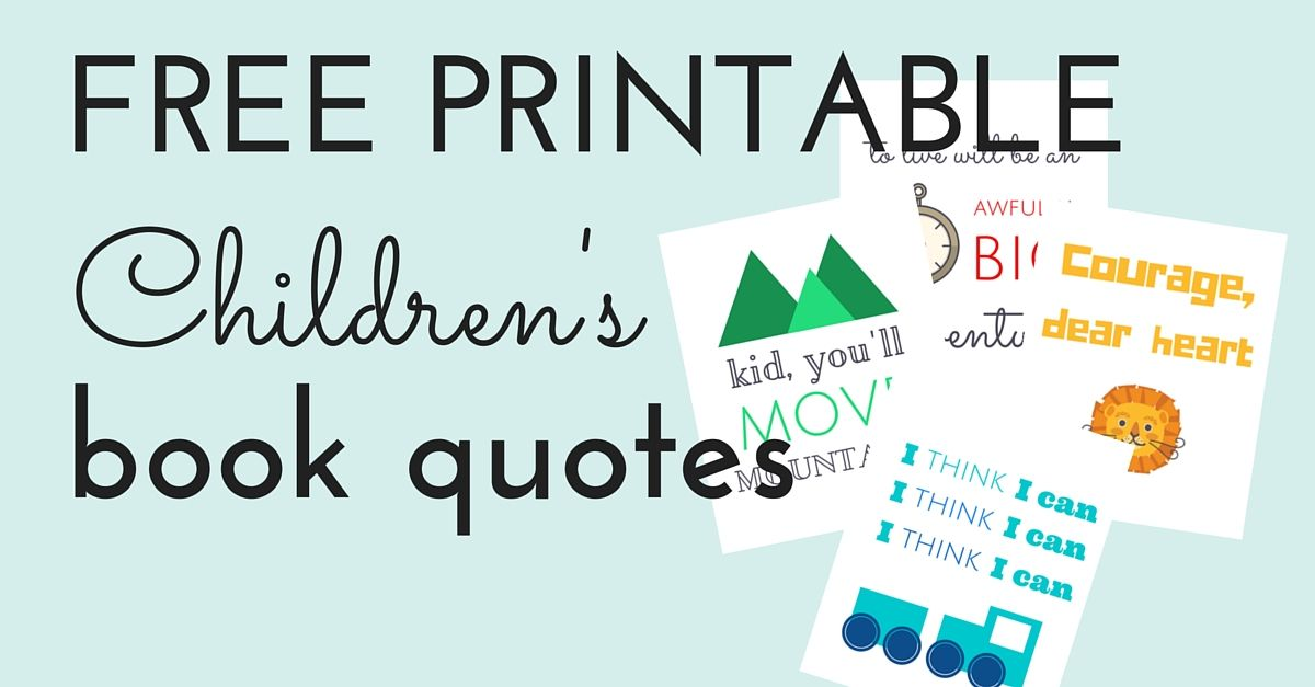 Free Printable Childrens Book Quotes Library displays Library