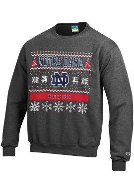 c9ef2d54f2 University of Notre Dame Fighting Irish Ugly Sweater Crewneck Sweatshirt