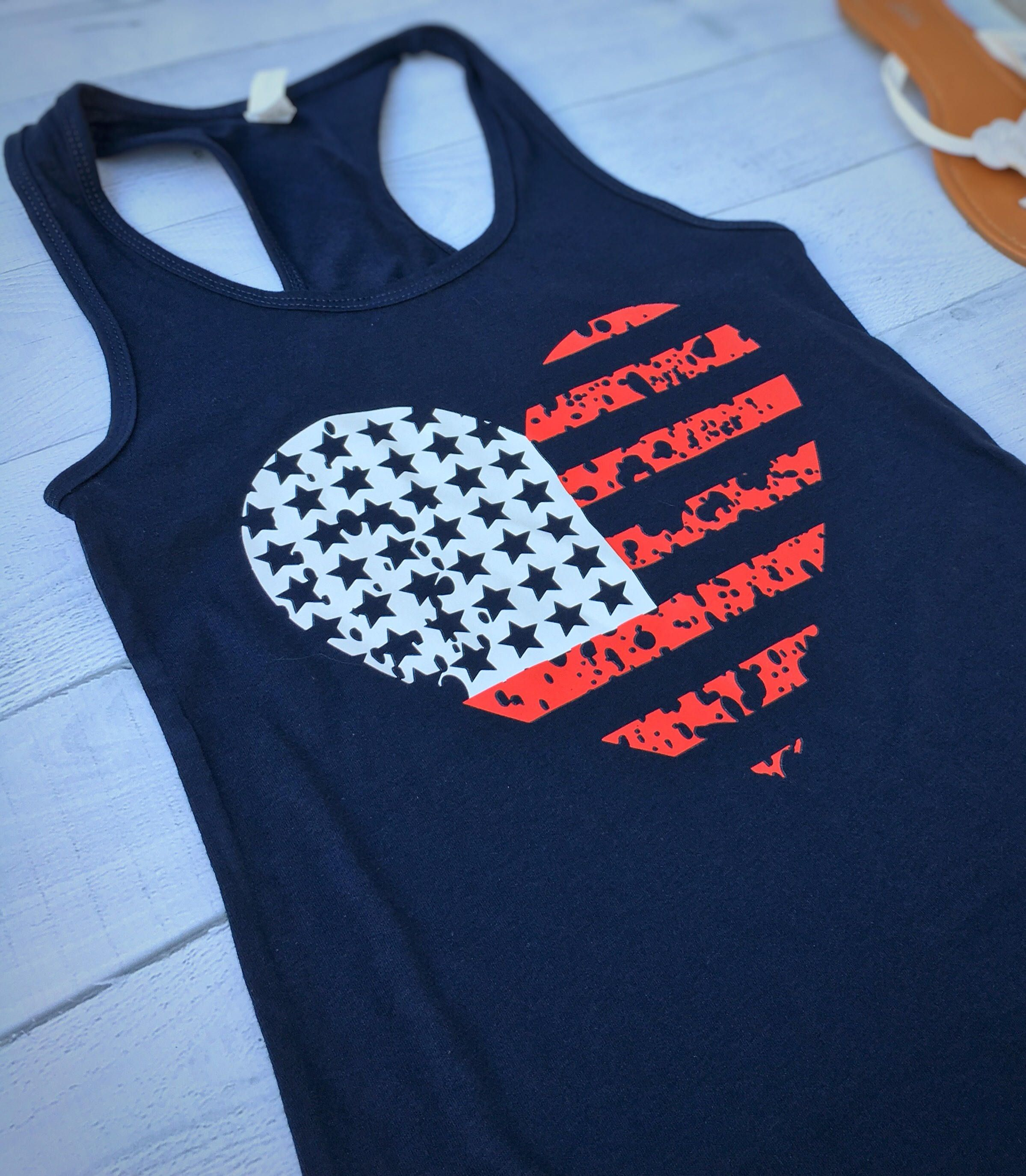 ad8f7640f2916 Red White and Blue Tank..Perfect for the 4th of July!