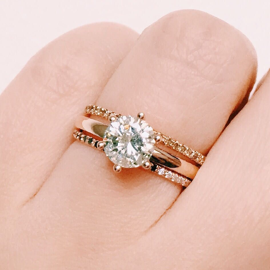 Custom rose gold engagement ring with a stunning 1.5 carat diamond ...