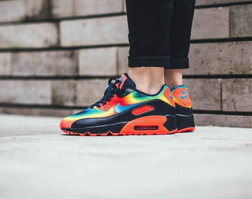 New images of the Nike Air Max 90 Heat Map edition is showcased. This GS  style is set to debut at Nike retailers on March 497a31dd5d