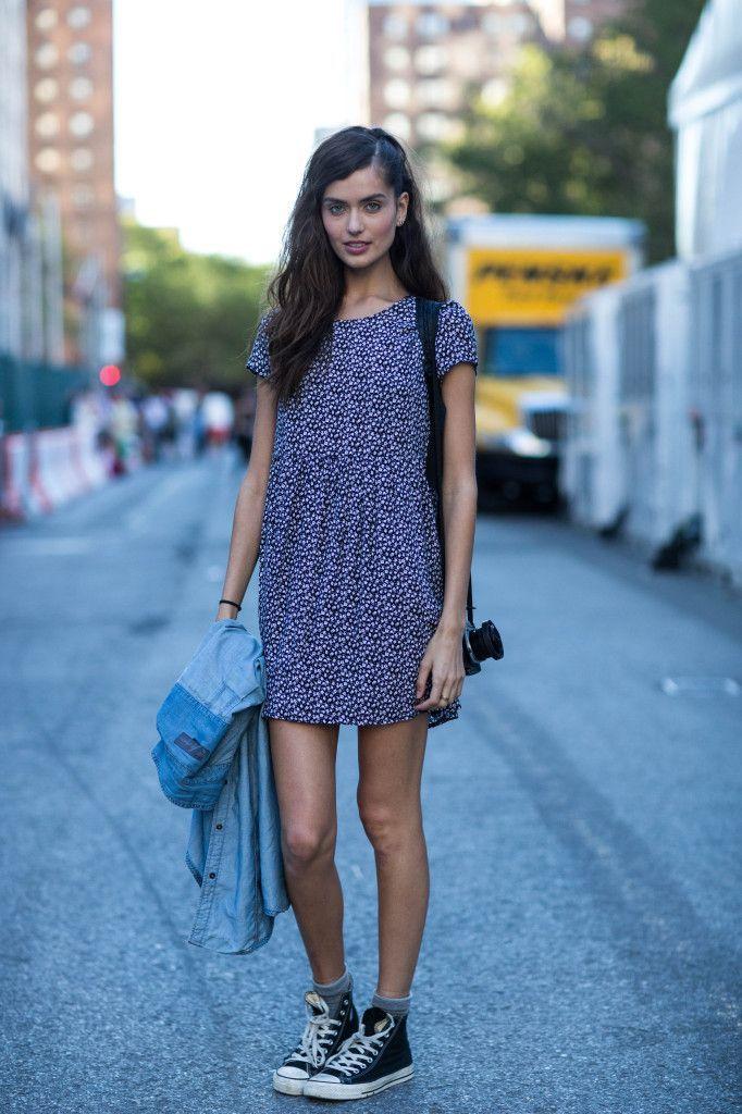 hi top converse with dress