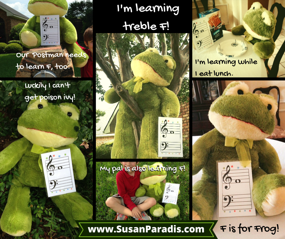 Fun With Frogs Easy Notes on the Staff Piano teaching
