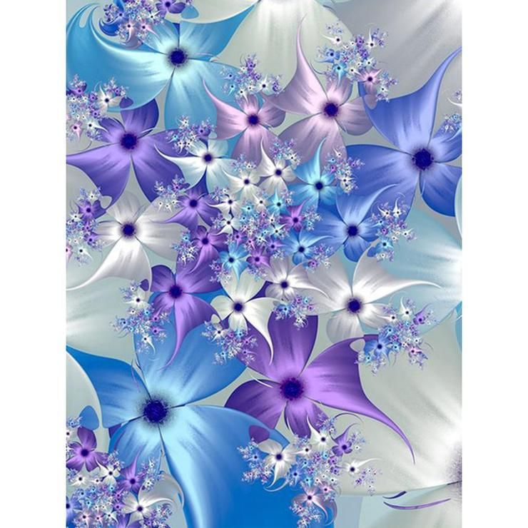 Full Drill DIY Diamond Painting Flower Embroidery Cross Stitch Craft Home