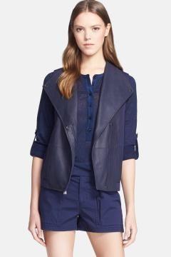 9f49d90c0 Vince Mixed Media Asymmetrical Vest $ 277.98 | Leather & Faux ...