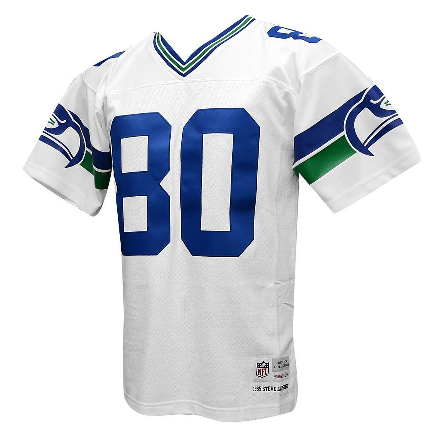 731839e22 Seattle Seahawks Mitchell   Ness 1985 Steve Largent  80 Replica Throwback  Jersey- White