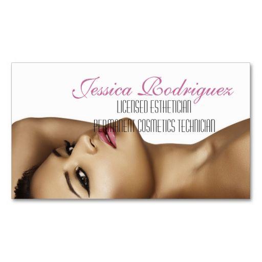 Esthetician Beauty Skin Care Business Card Business Cards - Esthetician business card templates