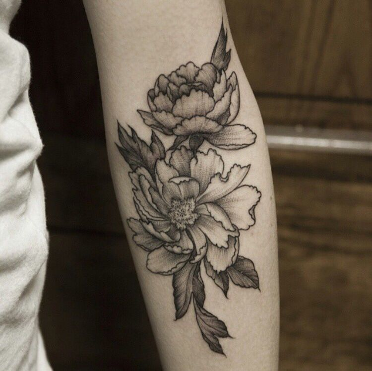 Black and gray peonies by Pam at White Tiger in Rochester, NY ...