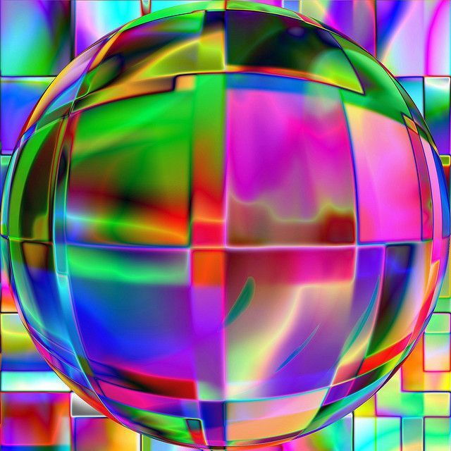 Colour glowing sphere