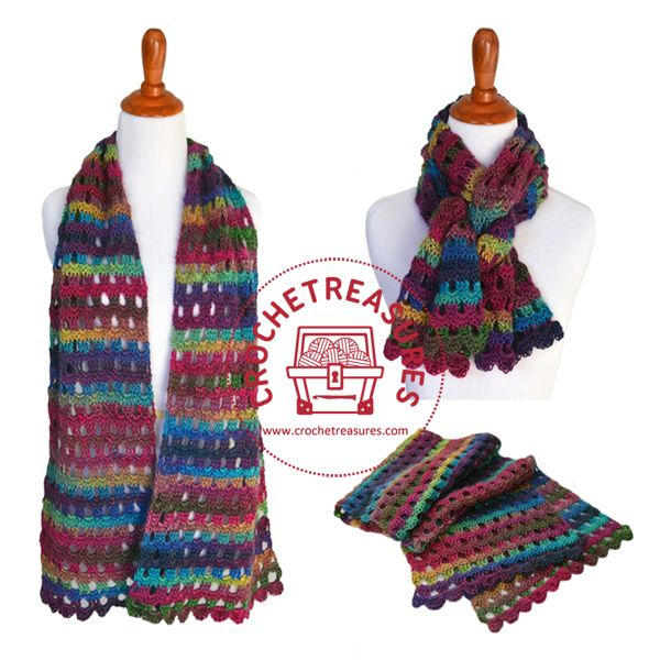 Dew Drops Wrap; Free Crochet Pattern
