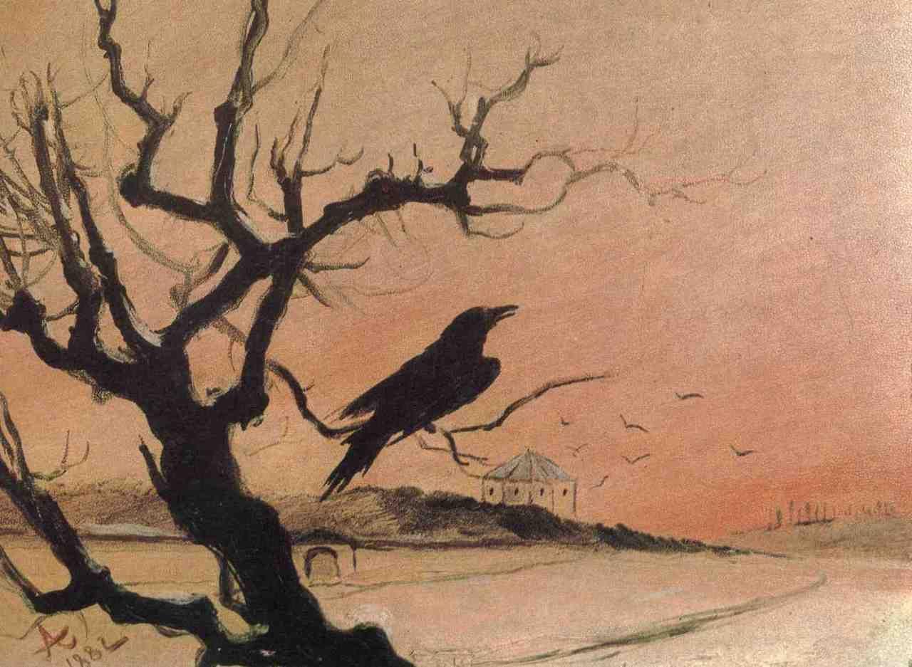 Mikoláš Aleš - Karlštejnský havran (1882)