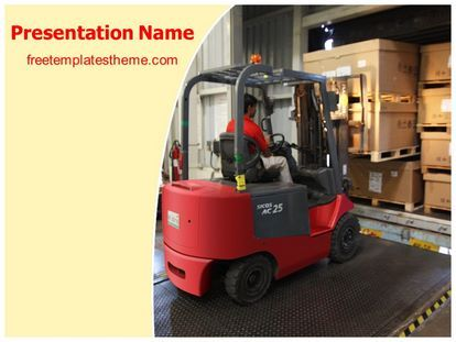 Download Free Warehouse Forklift Powerpoint Template For Your