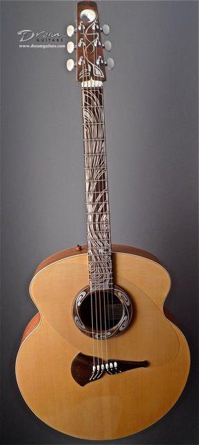 2010 Klein Inspired Pink Ivory Moon Pink Ivory Spruce Akusticheskaya Gitara Gitara Muzyka