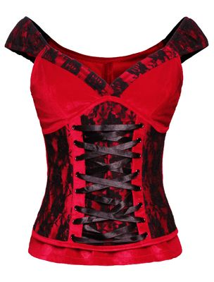 Laced Velvet Crush Red Top - The Violet Vixen