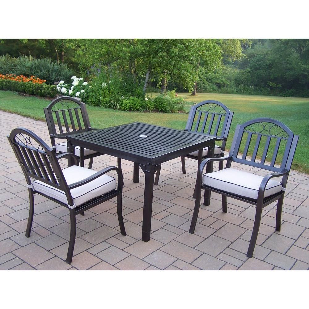 Oakland living rochester piece patio dining set with cushions