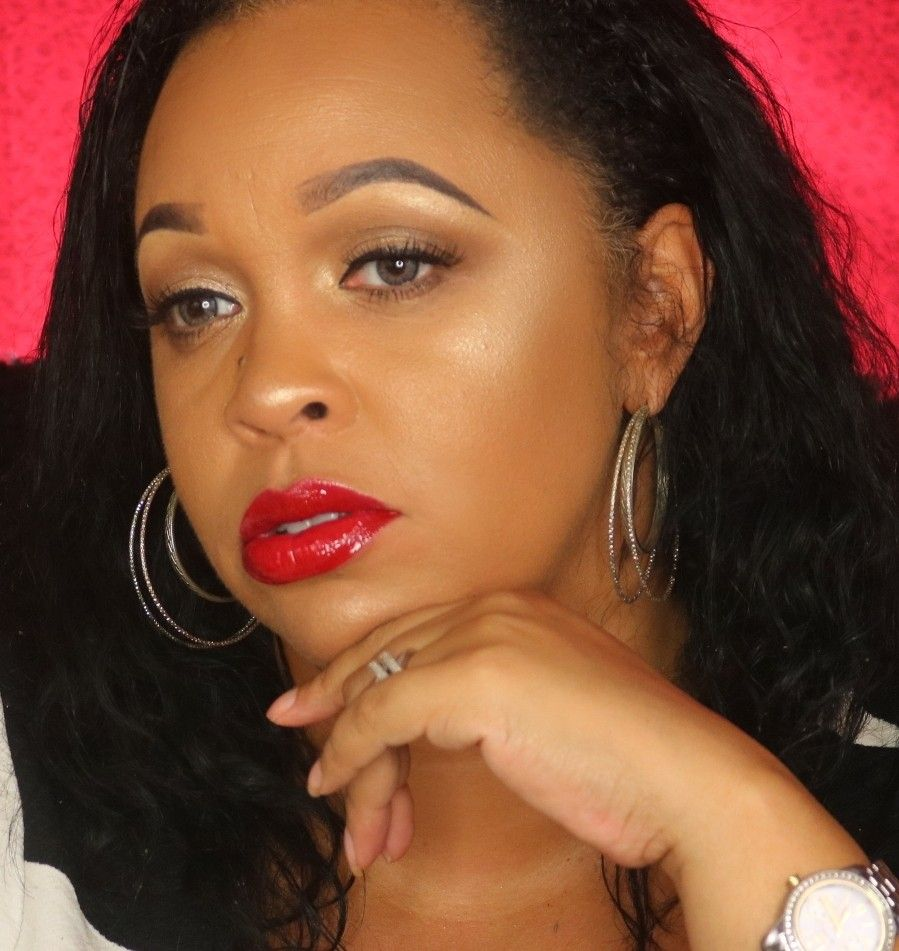 Natural look with bold red lip! Makeup looks, All things