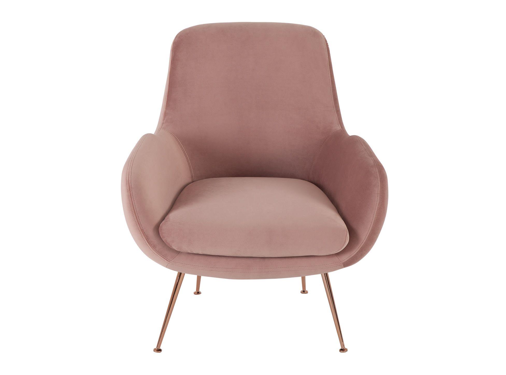 Roze Slaapkamer Stoel : Moby fauteuil oudroze fluweel woonkamer oudroze