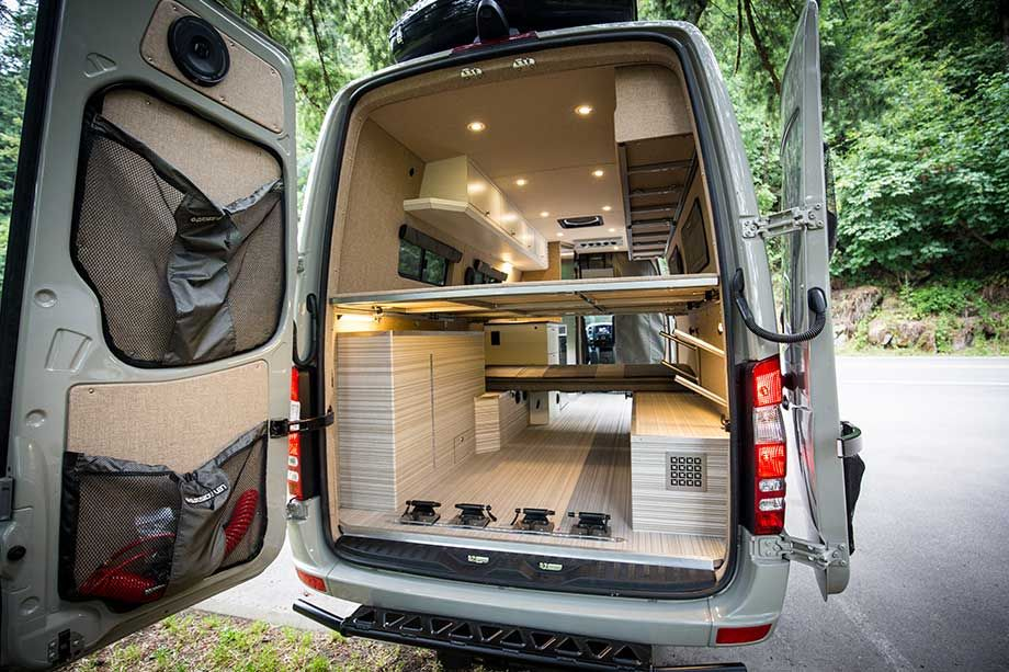 Mercedes Van Camper >> Bespoke Camping Van Brings Luxury To The Outdoors Vanlife
