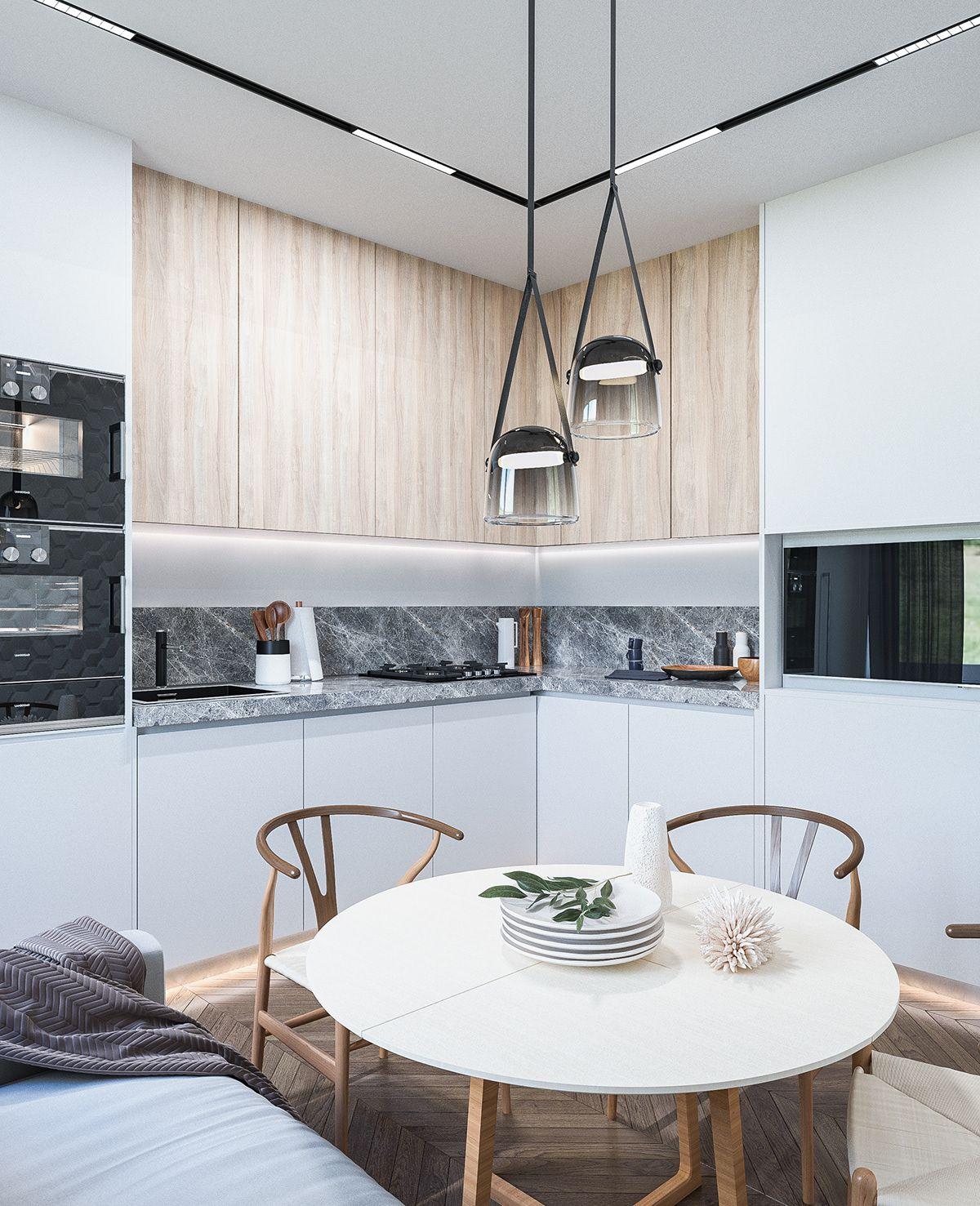 Galaxy Apartment Kiev 63 Sq M 2018 On Behance S Izobrazheniyami