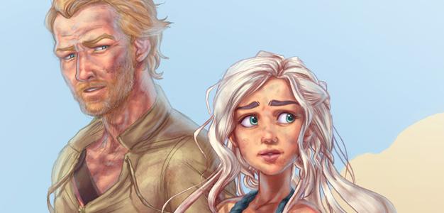 Sor Jorah Mormont and Daenerys Targaryen