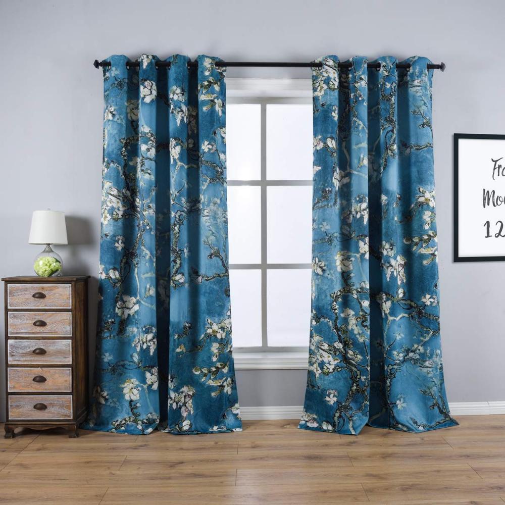 Amazon Com Taisier Home Apricot Blossom Curtains Printed Vintage