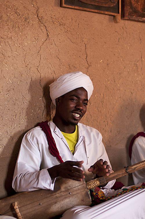 "Gnawa musician at Khamlia - ""Gnawa - language of the Blues..."" by sayeed_rahman"