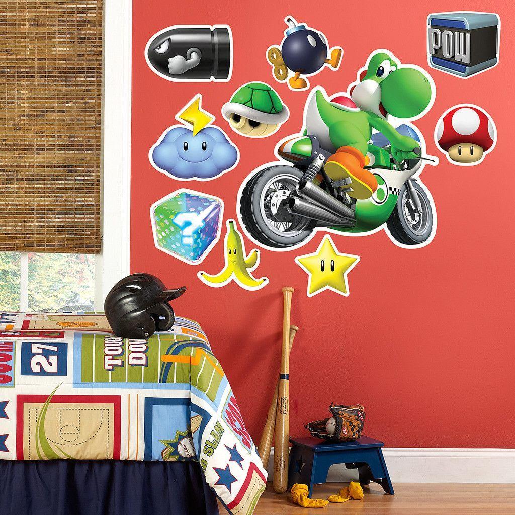 Donkey kong mario kart wii car tuning - Mario Kart Wii Yoshi Giant Wall Decal
