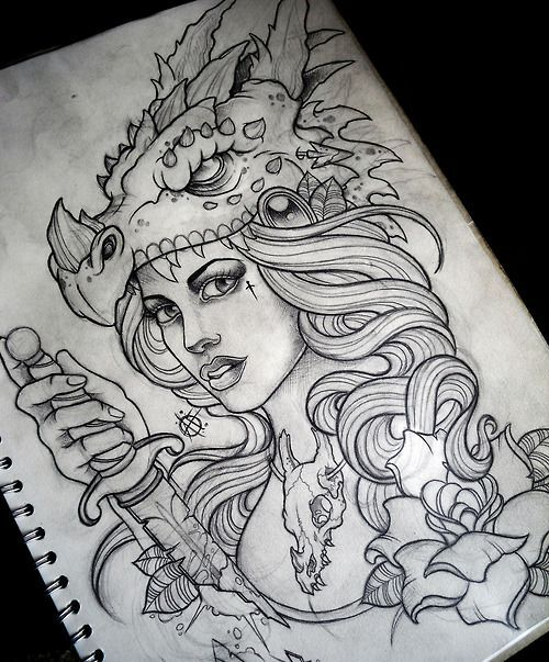 Neo Traditional Art Neo traditional tattoo,