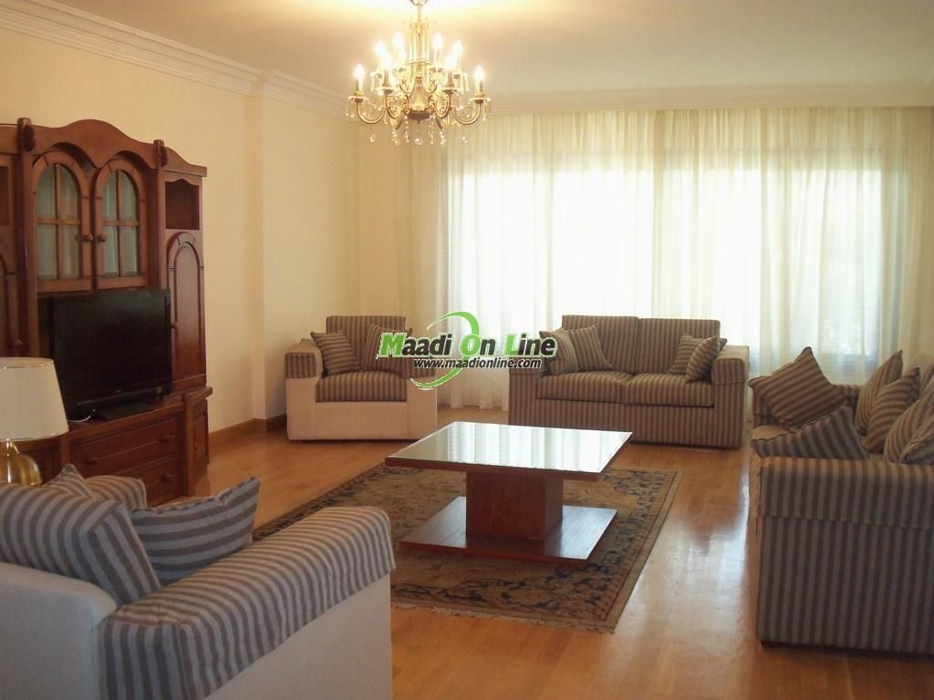 Very excellent apartment for rent in Maadi Sariaat. Real Estate Egypt, Cairo, Maadi, Sarayat  Maadi, Super Lux, Furnished,SemiFurnished Apartments for Rent, Divided into 4 BedroomsNo,3 Bathrooms  Flooring :Marble Hard wood ()www.maadionline.com
