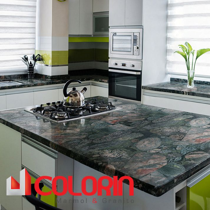 Meson de cocina, Granito verde Marinache | CASAS | Pinterest ...