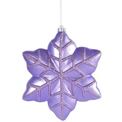The Holiday Aisle Snowflake Christmas Shaped Ornament Color Lavender Holiday Shapes Purple Christmas Snowflake Ornaments