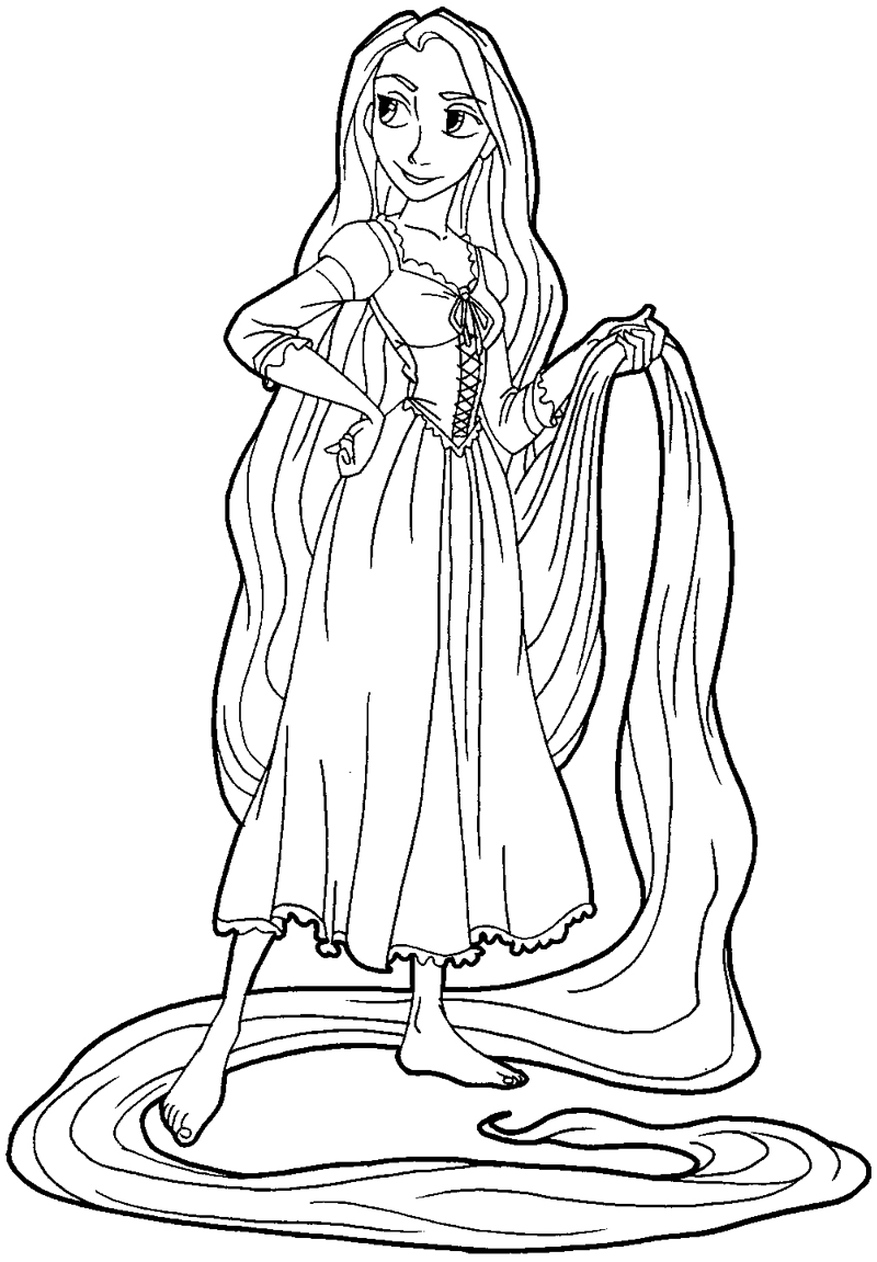 How To Draw Rapunzel From Tangled With Easy Step By Step Drawing Tutorial How To Draw Step By Step Drawing Tutorials Tangled Coloring Pages Rapunzel Coloring Pages Disney Coloring Pages