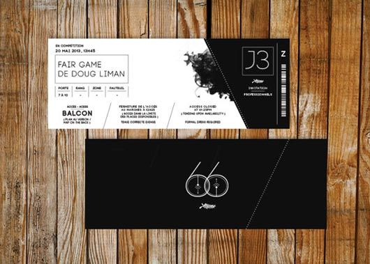 Ticket Designs More  Concert Ticket Layout