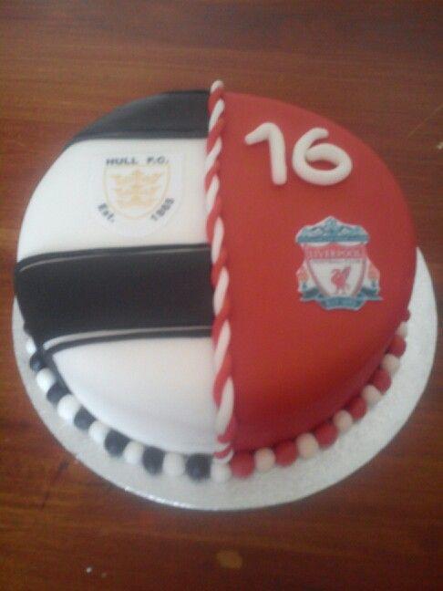 Hull Fc Liverpool Cake X Bakery Cake Liverpool Cake Desserts
